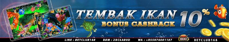 bonus cashback game ikan online